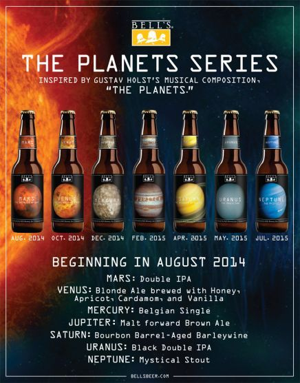 """Intergalactic, Planetary Brewery: Bell's Announces """"The Planets"""" beerseries"""